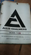 Allis Chalmers Service and Spares Manual Model S66,140,160,180