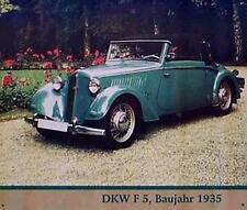 Altes Blechschild Oldtimer DKW F5 Baujahr 1935 PKW Cabrio gebraucht used