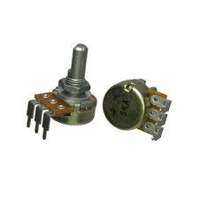 "5K Audio Taper Potentiometer 40 Detents 1/4"" D Shaft Log Pot"