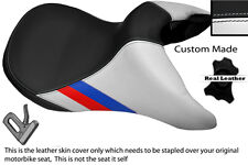 BLACK & WHITE CUSTOM M3 STRIPE FITS BMW R 850 R R 1100 95-07 FRONT SEAT COVER