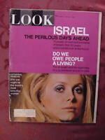 LOOK April 30 1968 CATHERINE DENEUVE JOE TORRE ISRAEL +