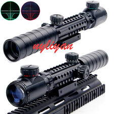 3-9X32EG Red/Green Optics Airsoft Rifle Scope Sight 20mm rail Mount 4 Rifle Hunt