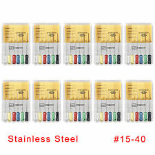 60pcs10 Boxes Dental Spreaders 25mm 15 40 Stainless Endo Root Canal Hand Files