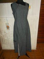 Robe longue lin/coton effet jeans TERRE DE MARINS 42 Sans manches