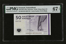 2013 Denmark Nationalbank 50 Kroner Pick#65f PMG 67 Superb EPQ Gem UNC