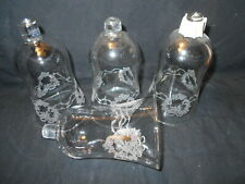 Etched Hearts Votive Cups Set of 4 Vintage Homco Interiors