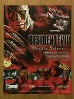 Resident Evil Deadly Silence DS 3DS 2006 Print Ad/Poster Official Promo Art Rare