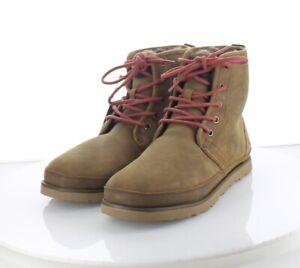 45-33 $130 Men's Sz 8 M Ugg Neumel Suede Genuine Shearling Chukka Boot - Brown