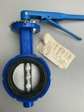 """Abz Butterfly Valve, 101-982, Iron Wafer Body, Epdm, 4"""" with handle New"""