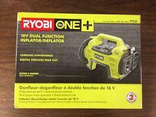 Ryobi P731 18V Air Compressor Inflator/Deflator Car Bike Tire Pump (Bare Tool)