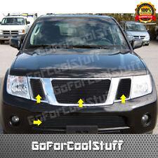 For Nissan Pathfinder 2008- 2012 Black Upper + Bumper Billet Grille Insert Kit