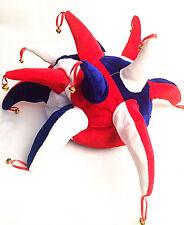 Multicolor Fuuny Jester Clown Costume Hat Mardi Gras Carnival Halloween for kids