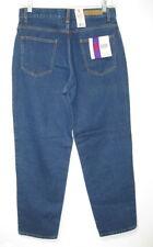 Vtg Bill Blass 100% Cotton Denim High Rise Easy Fit Jeans size 10 Petite 10P New