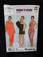 Simplicity MimiGstyle Sewing Pattern S0366 / 1115 U5 Misses Long Short Jumpsuit