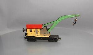 Lionel 2810 Vintage O Prewar Yellow/Red Crane Car