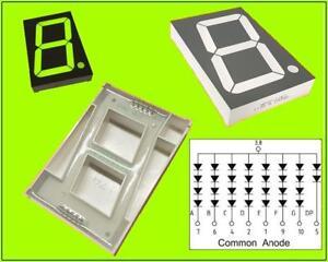 HDSP-C2G1 LED Display Anzeige 7-Segment 1 Digit Common Anode Grün 9V 1 Stück