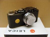 "Leitz Wetzlar - Leica II black Kit Summar 1:2/5cm ""Synchro Nachrüst"" - RAR!"
