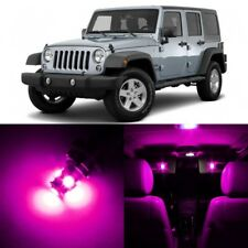 9 x Ultra Pink Interior LED Lights Package For 2007- 2017 Jeep Wrangler +TOOL