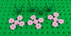 *NEW* Lego Light Pink Rare Flowers Green Stem for Garden Park Forest - Set of 4