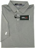 NWT $89 Polo Ralph Lauren RLX Short Sleeve Grey Shirt Mens Gray UPF 40+ Wicking
