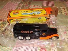 Sunray 1930 Diamond T Tanker Bank, 1st in series, Ertl stock # 2969,  1992