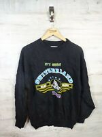 vtg 90s swizterland destination spellout sweatshirt sweater jumper refA19 Medium