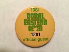 Pro Golfer Jerry McGee's 1981 Doral-Eastern Open Official Guest Entry Badge