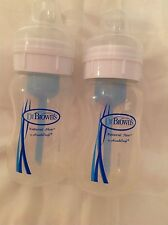 Dr Brown's  Baby bottles 8 oz Natural Flow by HandiCraft set of two