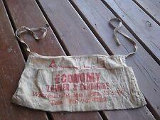 Vintage ?? Used Economy Lumber & Hardware Warrensburg MO Carpenter Nail Apron