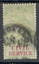 Queen Victoria - 10s. Green - Civil Service