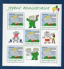 France Bloc N°100 Timbre pour Anniversaire Bande Dessinée Babar 2006 Neuf Luxe