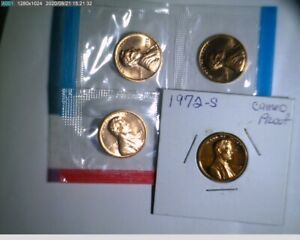 1972 PDS Lincoln Cent  penny Unc in mint cello and Proof