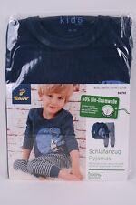 Schlafanzug Pyjamas für Kinder mit Bio-Baumwolle von Tchibo TCM 86/92 Blau, NEU