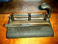 Vintage Heavy Duty Adjustable 3 Hole Punch Master Products Mfg Gray Patpend