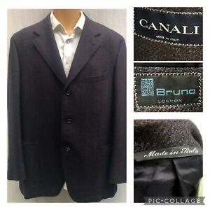 Canali Sports Coat Blazer Suit Jacket MADE IN ITALY Wool UK 48 48R IT58 XXXL