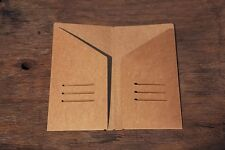 9X5 Standard Kraft Paper Pocket For Midori Travel Note Book Journal Diary Refill
