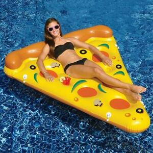 Giant Inflatable  PVC Swimming Pool Lovely Pizza WaterFloat Raft Beach Lounge