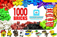 Brick Loot Quality 1000 Pack Bulk Box Building Bricks NEW fits LEGO Creative