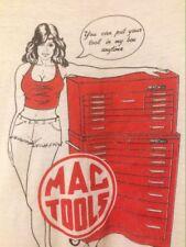 Vintage Sexy Woman MAC Tools Ringer Naughty T-Shirt XL 50-50 USA