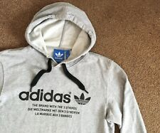 Adidas Originals Grey Marl Hoodie Hoody Jumper Medium