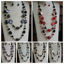 Alloy Beaded Costume Necklaces & Pendants