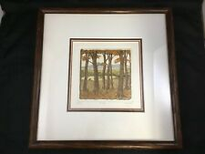 The Glen Hand Colored Nature Etching Hunt-Wulkowicz Framed Limited Ed Print
