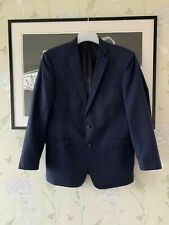 Mens Navy Slim Fit Wool Mix Suit Jacket From CALVIN KLEIN - Size 42R
