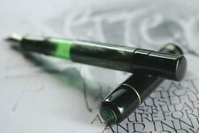 HISTORIC PELIKAN 100, GREEN SLEEVE,  CN FLEX -F- NIB, NEW LOGO, RESIN SEAL