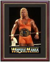 Mr Perfect Curt Hennig Wrestling Legend Mounted & Framed & Glazed Memorabilia