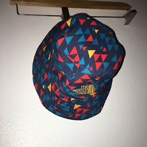 baby infant sun hat The North Face blue red excellent UPF 50 Infant 21-1483