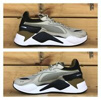 "Puma RS-X Core Running System ""Overcast"" Black/Beige Men's Size 7.5 [369666-06]"