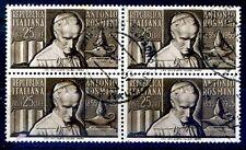 1955 ANTONIO ROSMINI - QUARTINA USATA