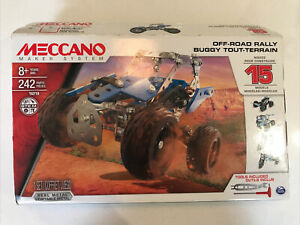 Meccano Off-road Rally Buggy Tout-terrain 8+ 242 Parts Set 16210 Complete