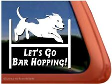 Let's Go Bar Hopping! | Pitbull Pit Bull Terrier Agility Dog Vinyl Decal Sticker